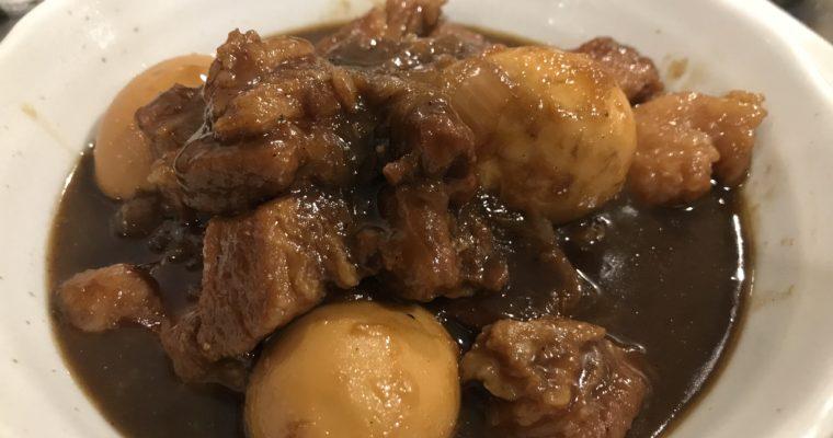 ダッチオーブンを使った豚バラブロックのコーラ煮