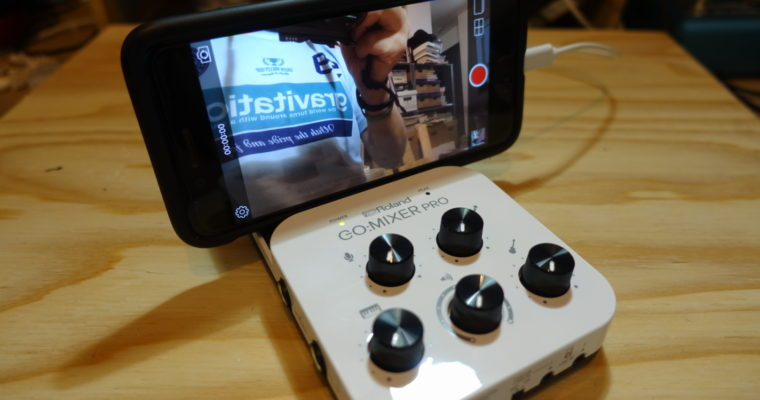 iPhone/Androidで使える簡易ミキサー Roland GO:MIXER PRO 開封レビュー
